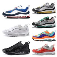 nike air max 98 Designer Hommes 98 98s femmes Chaussures de course OG Gundam Triple Black White Cone Tour Jaune gym Rouge Plus récents Hommes Sports trainers sneakers