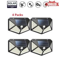 100 LED'ler Güneş Paneli Güç Işık PIR Hareket Sensörü Ayrılabilir Duvar Lambası Açık Yolu Yard Bahçe Çit Gece Işığı Yeni 4 270 taraflı °