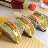 Taco держатель из нержавеющей стали Taco Стенд Посудомоечная машина Газовая плита Сохранить легко заполнить Taco стойку и идеально подходит, чтобы сохранить ваш вкусный Tacos FFA3746