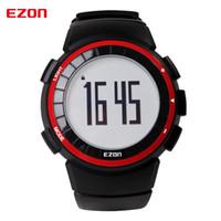 Calorie Ezon T029 uomini della vigilanza di sport Pedometro Cronografo Moda fitness all'aperto orologi da polso digitali 50M impermeabili