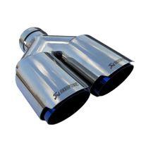 عوادم السيارات العالمي Akrapovic المزدوج المحرقة الأزرق الفولاذ المقاوم للصدأ تلميح نهاية مزدوجة الأنابيب لBMW BENZ فولكس فاجن جولف TOYOTA