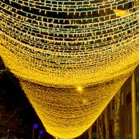 NUEVO 10m 100 LED String Guirnalda Árbol de Navidad Luces de hadas Connect Conecte Impermeable Home Garden Fiesta Festival al aire libre Decoración Ambient Luces Ambient