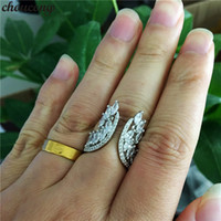 choucong Lovers Angel wings Ring 925 sterling Silver 5A Zirc...
