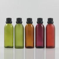 Commercio all'ingrosso 60ml di alta qualità slanciata bottiglia di olio essenziale con spina goccia, tappo antifurto per l'esportazione, vetro packaging di alta qualità
