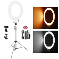 Neewer 18- inch White LED Ring Light with Silver Light Stand ...