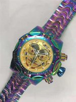 INVICTA رجل ساعة المهرج سلسلة الذهبي موضة ساعات إنفيكتا ووتش الهاتفي كبير تاريخ التلقائي relógio دي LUXO