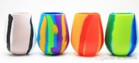 Kreative Tarnung Silikon Rotweinglas Cups 12 Unzen Bierglas zusammenklappbares Silikon Stemless Cup Trinkgefäße Kaffeetasse