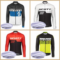 2019 SCOTT Team Winter Thermal Fleece Ciclismo Jersey MTB Camisetas de manga larga Ropa Ciclismo MTB Camisa de bicicleta Racing Bike Clothes Y041101
