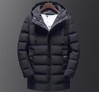Winter-mit Kapuze Normallack-Männer unten Causal Thick Jungen Jacke Herren Mtlg Parkas mit Hut-Mode-Männer Oberbekleidung