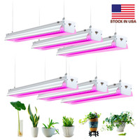 Full Spectrum 4ft 64W Led Grow Lights for Indoor Plants Best Indoor Greenhouse Kit Grow Light Fixtures for Seed Starting Herb Succulents Veg