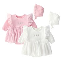 Lace Newborn Infant Baby Girls Dress Long Sleeve Embroidery ...