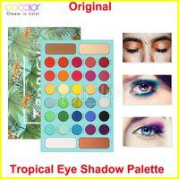 Maquillaje Docolor Tropical gama de colores 34 sombra de ojos color mate brillo alto contenido de pigmentos de sombra de ojos en polvo de larga duración a prueba de agua
