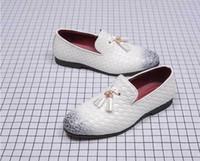 Quasten Herren Kleid Schuhe Leder Weave Oxford Schuhe für Männer Müßiggänger Italien Schwarz Weiß Derby Formale Hochzeit Schuhe Plus Größe 38-48