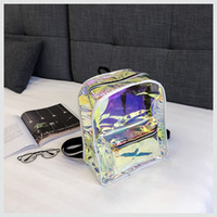 Transparent Reflective Laser Backpack Women Waterproof Jelly...