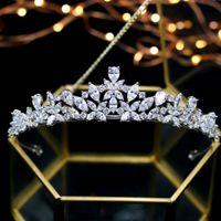 Новые диадемы короны для женщин аксессуары для волос высокое качество Циркон золото свадьба тиара свадебная Корона свадебные аксессуары для волос