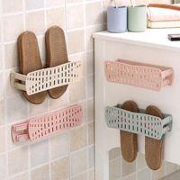 يعلق على الحائط-حمام الثابتة المعلقة تخزين قابلة للطي النعال الحذاء الرف