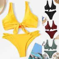 bikinis 2020 mujer Women Print Tube up Bikini Push-Up Swimsuit Swimwear Beachwear women's swimming suit monokini biquinis plavky