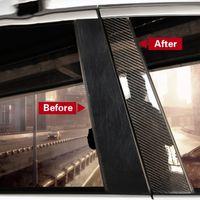 ألياف الكربون نافذة السيارة عمود السيارات ملصقات تقليم أغطية مرسيدس W204 ج e فئة فئة GLC زينة ملصقا صائق