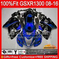 Впрыск для SUZUKI Hayabusa GSXR1300 08 2008 2018 GSXR 1300 25NO.87 GSXR-1300 08 09 10 11 12 13 14 15 16 17 синий черный 18 OEM обтекатели