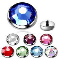 Yüzey Vücut Takı 1PC Titanyum Dermal Piercing Mikro Dermal Çapa Threading Üst Cilt Dalgıç Kristal Piercing gizle