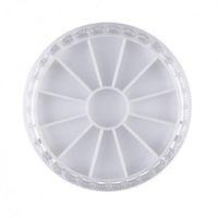 Plastik Nail Art Saklama Kutusu Kasa Organizatör Konteyner İçin Glitter Kristal Rhinestones Boncuk Takı Dekorasyon Görüntü Manikür Aracı F630