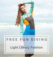 Scuba Diving Suits Neoprene Swimming Suit Para Mulheres Meninas Água Sports Wet Ir Jumpsuit Swimwear Wetsuit Rash guardas