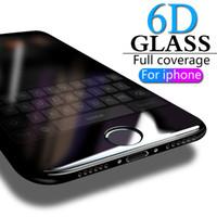 6D Tam Kapak temperli cam iPhone 8 7 6 6S Plus X XS MAX cam iphone 7 8 x ekran koruyucusu Koruyucu cam