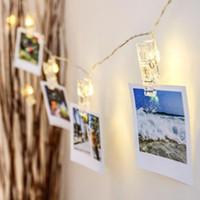 1m 2m 3m 4m 6m Fotoğraf Klip lambası LED String Pil veya USB DC 5V Noel Tatili Parti Düğün Dekorasyon Peri ışıkları