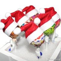 Nouveau Mini Chapeau De Noël Père Noël Chapeau De Noël Sucette Chapeau Mini Cadeau De Mariage Cadeau Créatif Bouchons Arbre De Noël Ornement Décor
