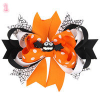 New Baby Girls Hair Pin Kids Pumpkin Ghost Bows for Party Ch...