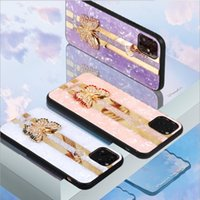 Luxury Creative Mirror Fashion 3D Inlaid butterfly Phone Cas...