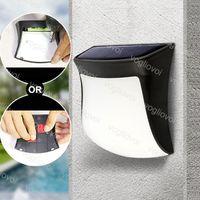 태양 램프 정원 조명 3LED IP65 ABS 1300mAh 배터리 6500K 3500K 벽 설치 스트립 스위치 야외 울타리 안뜰 DHL