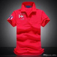 Yüksek kaliteli sıcak satış Erkek Erkek 2019 Shirt Katı Polo Gömlek Erkekler Lüks Polo Gömlek kısa kollu