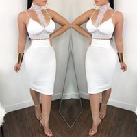 Hirigin Women Set 2Pcs Womens Sexy Bandage Bodycon Crop Top Backless Evening Party Club Slim Skirt