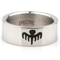 007 Ghost Party James Bond Rings Wide 8MM Titanium Steel Men's Ring Titanium Steel Men And Women Ring