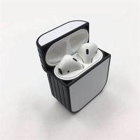 Em branco 2D Sublimation Airpods Case Capa protetora à prova de choque Capa de Earpods para a Apple Headphone pode imprimir logotipo