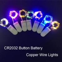 LED Silber Kupferdraht-Schnur-Licht CR2032 Knopf Batteriebetriebene Lichterketten Weihnachtsdekorationen für Hochzeit Feiertags-Party Weihnachten Startseite