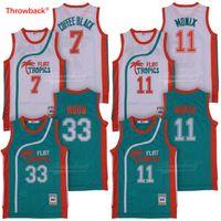 981ca5c19c2 Mens Semi Pro Movie Flint Tropics #7 Coffee Black Jersey Wholesale #33  Jackie Moon #11 ED Monix Basketball Jerseys