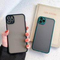 Camera Protection Bamper Case Case для iPhone 11 Pro Max XR XS X 8 7 PLUS Matte Transcuctent Ambouse Back Cover Бесплатная доставка