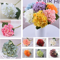 18 Colors Artificial Hydrangea Flower Fake Silk Real Touch B...
