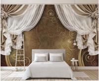 WDBH 3D Wallpaper benutzerdefiniertes Foto Europäisches Vorhang Muster tv Hintergrund home decor Wohnzimmer 3D Wandmalereien Tapete für Wände 3 d