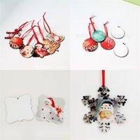 Personalizado em branco do floco de neve Pendant decoração da árvore de Natal Ornamento de suspensão DIY festiva amigável Eco Fashion 2 1bda UU