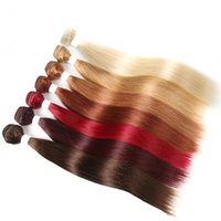 Blonde 613 Brazilian Human Hair Weave 3 4 Bundles Burgundy R...