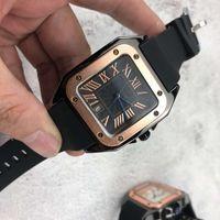 Mode Liebhaber 'Männer Frauen Uhren Paar Gold Square Top Marke Quarzuhr Rom Zahlen Armbanduhren für Mens Damen Weihnachtsgeschenke Valentinstag Geschenk