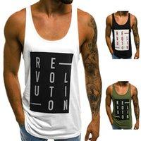 20SS Yeni Basit Erkek Tasarımcı Yelek tişört Rahat ve Nefes Avrupa ve Amerikan Erkekler İnce Harf Baskılı Yuvarlak Yaka Casual