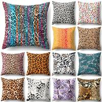 1 Sztuk 45 * 45 cm Animal Leopard Drukuj Poszewka na Poszewka na Sofa Talia Rzuć Poduszki Pokrywa Home Decor Poduszki Obejmuje House de Coussin