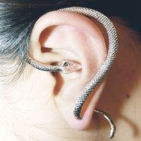 Pendientes de aro Rinhoo animal del vintage de acero inoxidable pendiente de la serpiente para mujeres hombres joyería de regalo de la muchacha