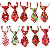 Navidad corbatas mascotas perros de perrito del gato para niños pequeños corbatas ajustable cuello corbatas Suministros Accesorios para perros mascotas
