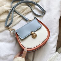 PU Leather Contrast Color Crossbody Bags For Women 2020 Fash...