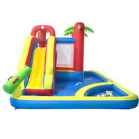 Quintal fábrica inflável Castelos Bouncy Slides Pool 3 em 1 parque aquático Bouncy